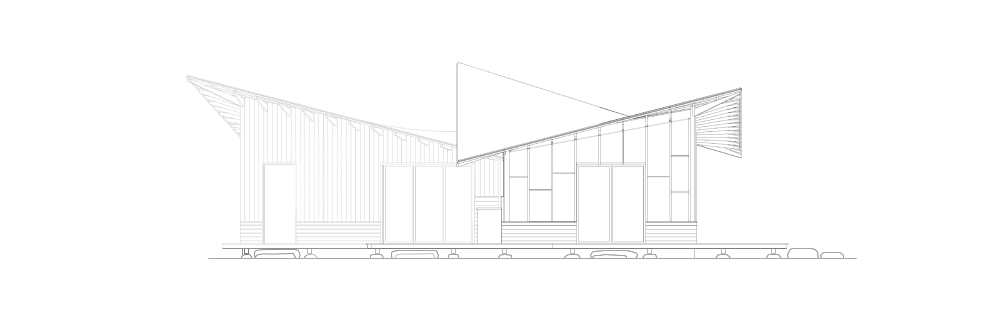 Cottage in the woods -Elevation South