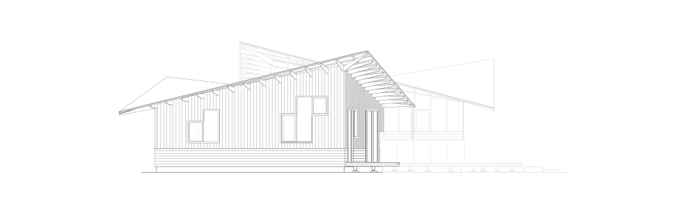 Cottage in the woods -Elevation West