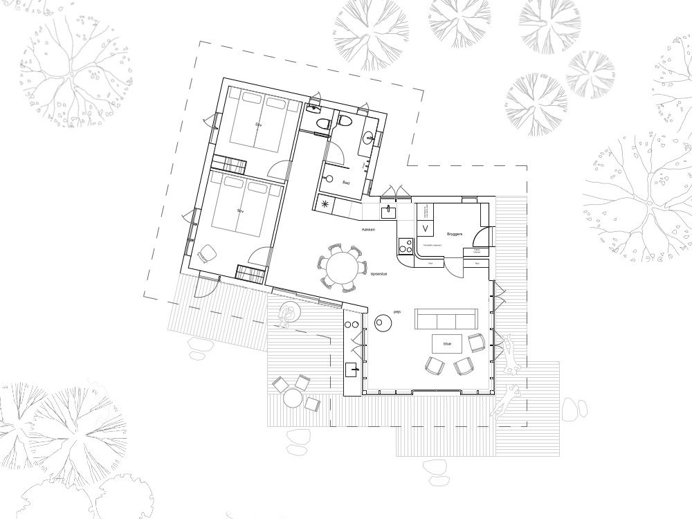 Cottage in the woods -plan