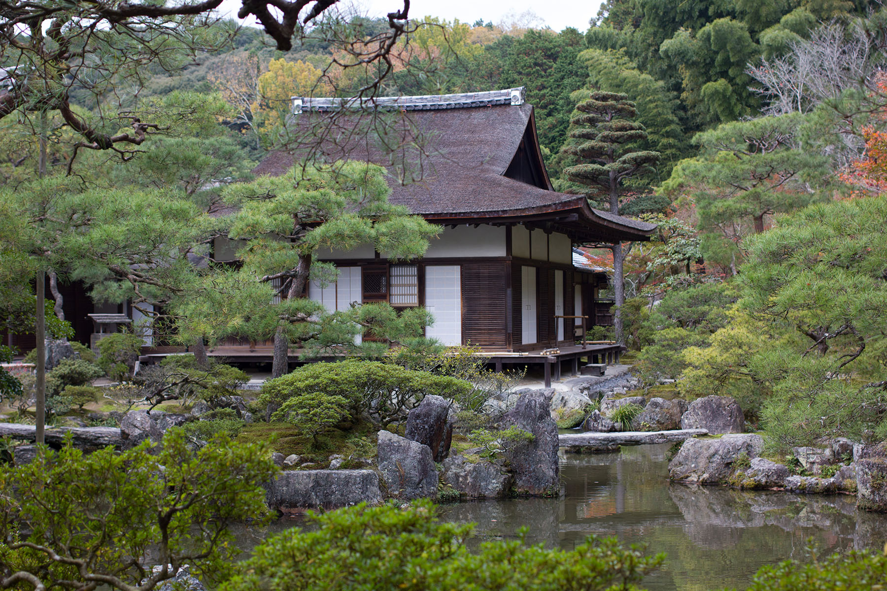 Japanese gardens and temples